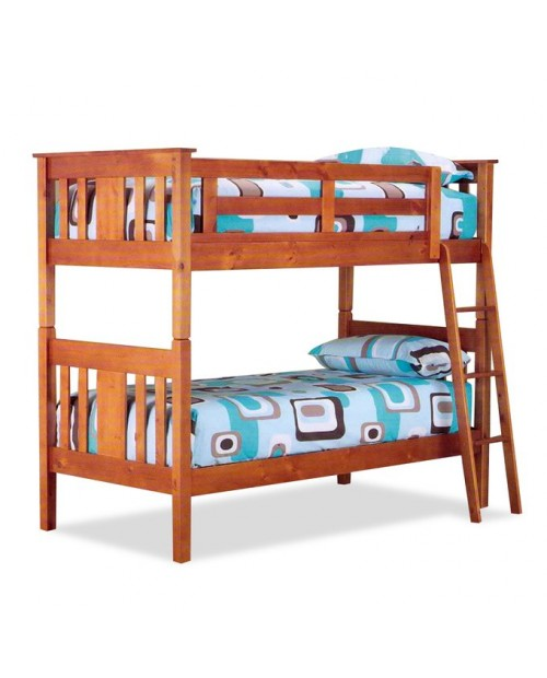 Clearance Cincinatti Dark Oak single bunk