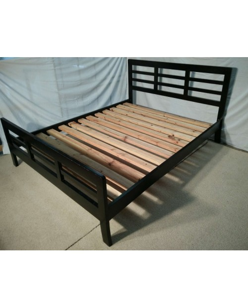 Clearance 'Kirra' Dark Timber Bed - Queens Size