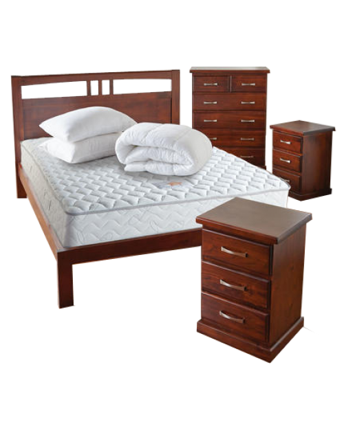 Bedroom Furniture Clearance -  Timber Bedroom Suite - Brand New!