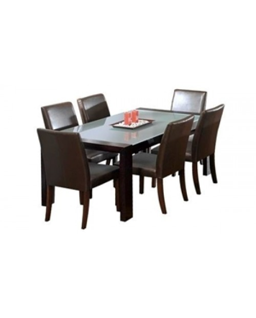 7 Pce Dining Setting with glass top