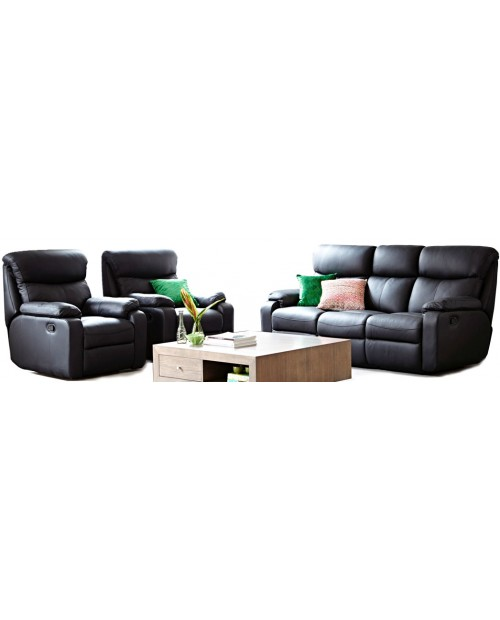 Furniture Clearance - 3 Piece Leather Recliner Suite