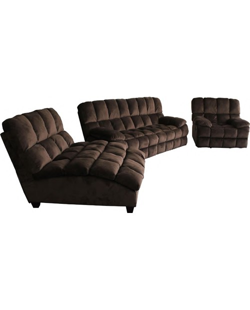 Clearance Atlas Chaise Lounge Suite - Chocolate