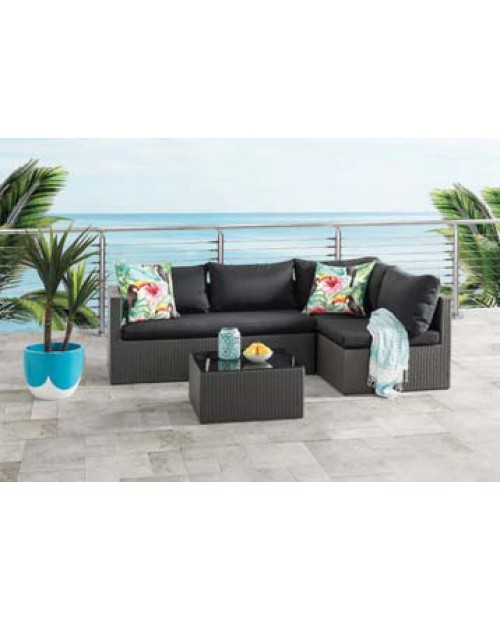 Outdoor Chaise Lounge with Coffee Table