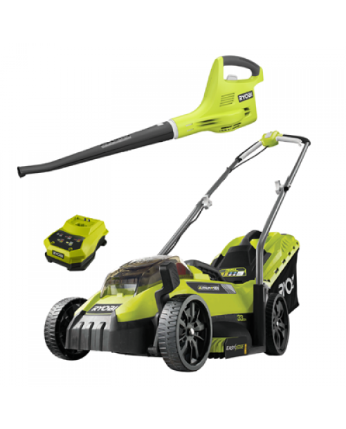Battery Powered Mower and Blower Kit