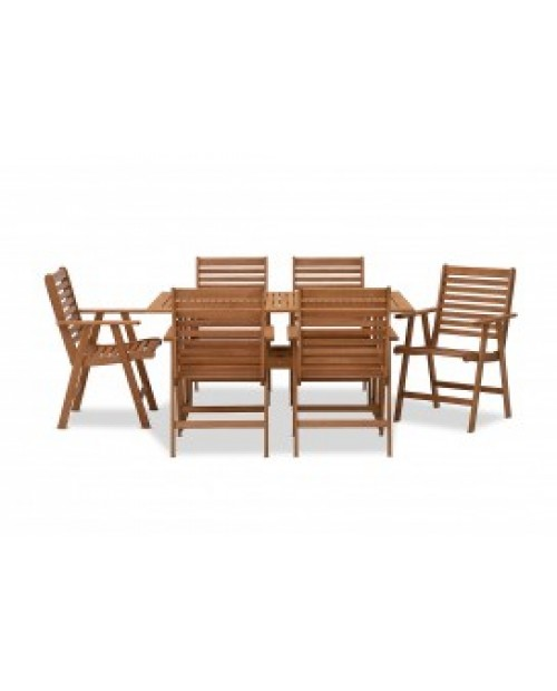 Clearance - 7 Piece Timber Outdoor Setting